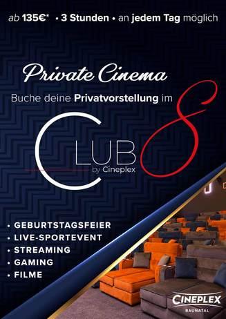 Private Cinema im Club 8 in Baunatal