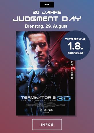 """VVK ab 1.8.: """"Terminator 2 - Tag der Abrechnung 3D"""""""