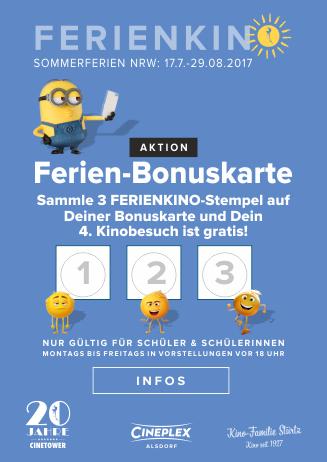 Ferienkino: Ferien-Bonuskarte