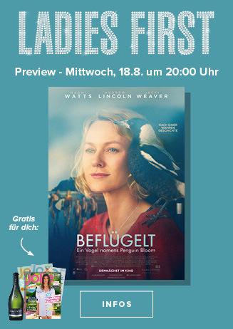 Ladies First am 18.08.2021 um 20 Uhr: Beflügelt - Ein Vogel....