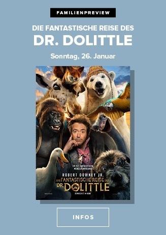 26.01. - Familienpreview: Die fantastische Reise des Dr. Dolittle