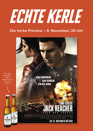 ECHTE KERLE PREVIEW: Jack Reacher - Kein Weg zurück