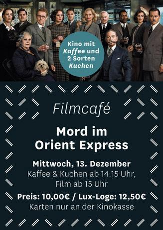Filmcafé: Mord im Orient Express