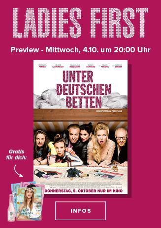 """Ladies First """" Unter deutschen Betten """""""