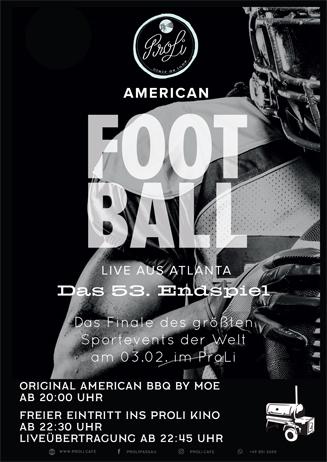 American Football Finale & BBQ by Moe im ProLi