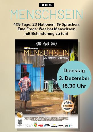 """191203 Special """"Menschsein"""""""