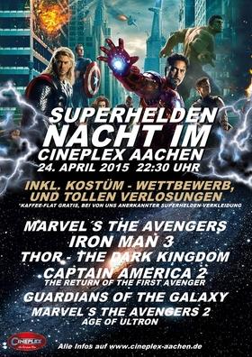Superhelden-Nacht im Cineplex Aachen