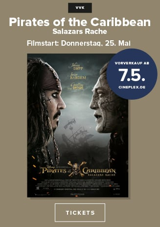 VVK ab 7.5.: Pirates of the Caribbean: Salazars Rache