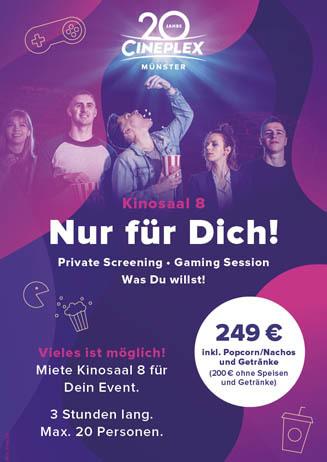 Kinosaal 8 Nur für Dich!