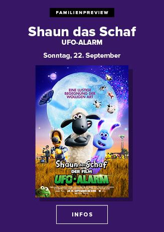 22.09. - Ffamilienpreview: Shaun das Schaf - Ufo Alarm