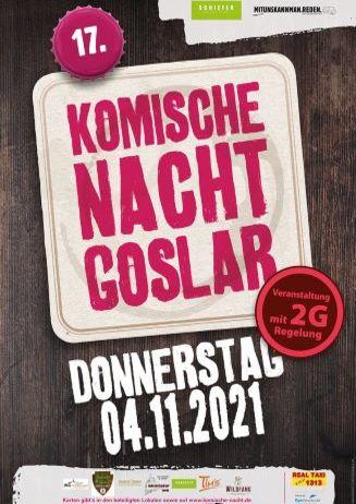 17. Komische Nacht in Goslar - 04.11.2021