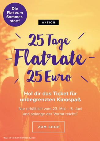 Das 25–Tage-Ticket – die Kinoflat zum Sommerstart