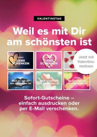 Valentinstag! Gutscheine verschenken!