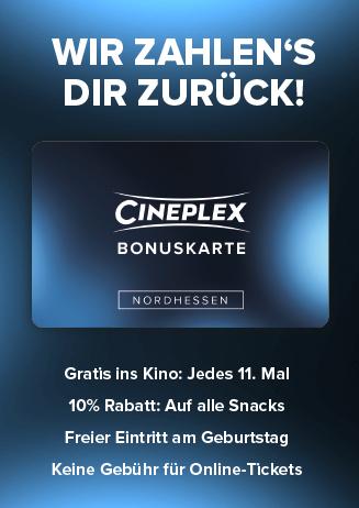 Cineplex Bonuskarte Nordhessen