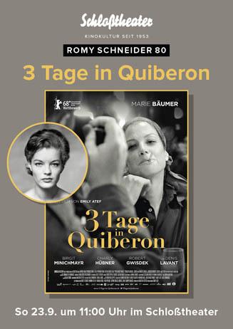 3 TAGE IN QUIBERON zu Romy Schneiders 80.