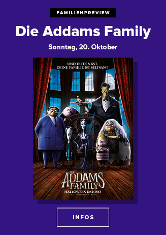 20.10. - Familien Preview: Die Addams Family