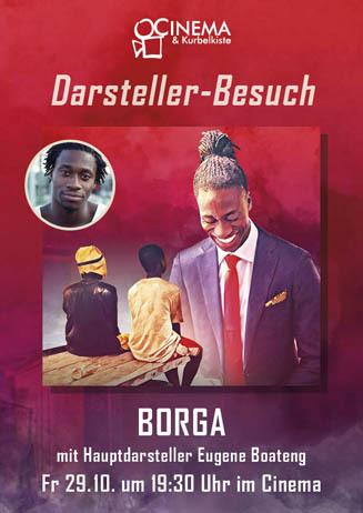 BORGA mit Hauptdarsteller Eugene Boateng