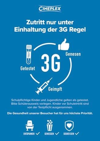Zutritt nur unter Einhaltung der 3G Regel