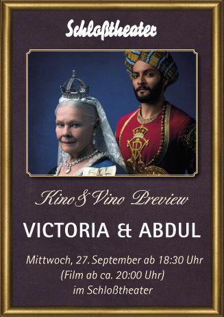 Kino&Vino Preview: VICTORIA & ABDUL