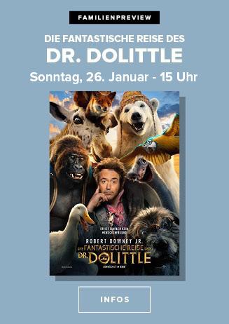 "200126 FamPrev ""Die fantastische Reise des Dr. Dolittle"""