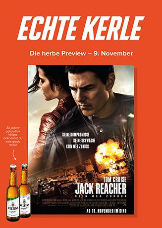 9.11. - Echte Kerle: Jack Reacher - Kein Weg zurück