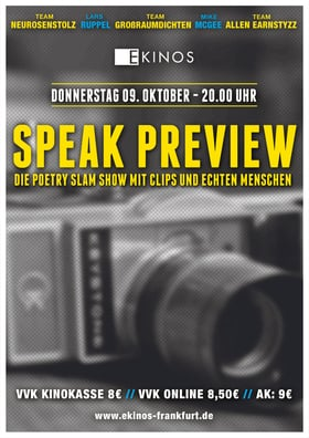 Speak Preview - Poetry Slam Show
