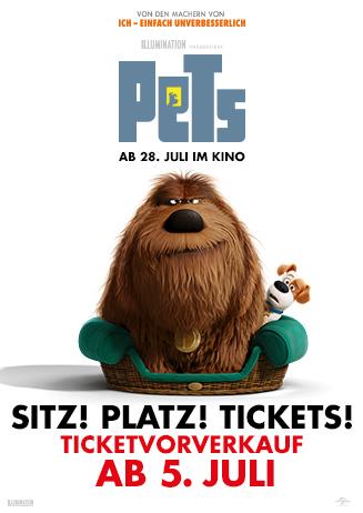 """160705 Vorverkauf zu """"Pets"""" beginnt am 5. Juli!"""