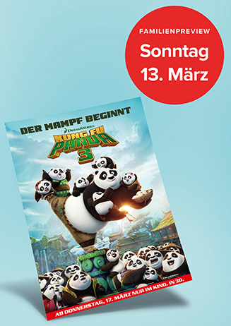Familien-Preview: KUNG FU PANDA 3