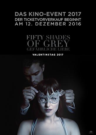 Vorverkaufsankündigung: Fifty Shades of Grey - Gefährliche Liebe