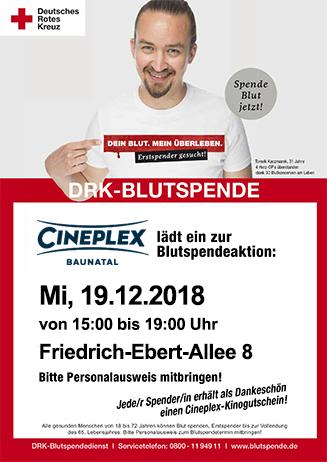 Blutspende im Cineplex Baunatal