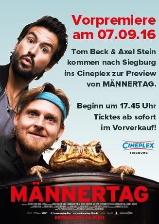 MÄNNERTAG mit Tom Beck und Axel Stein
