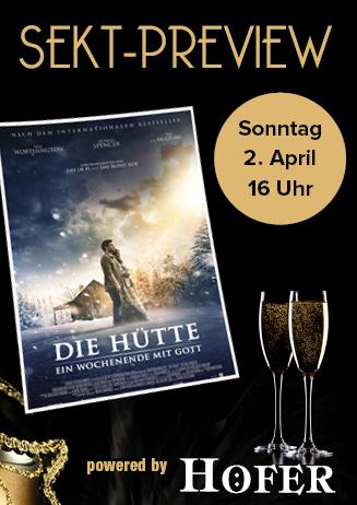 """170402 Sektpreview """"Die Hütte"""""""