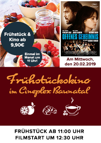 """Frühstückskino: """"Offenes Geheimnis"""""""