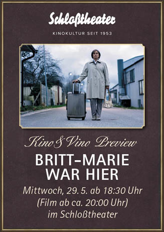 Kino&Vino-Preview BRITT-MARIE WAR HIER
