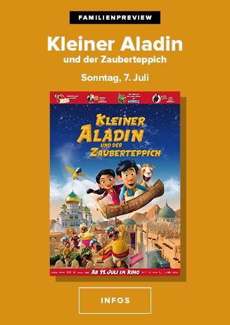 """Familienpreview """"Kleiner Aladin und der Zauberteppich"""""""