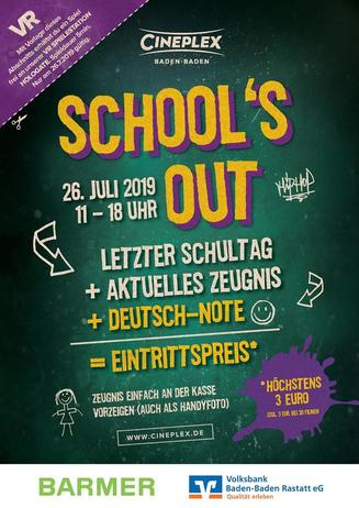 Schools out 26.07.2019