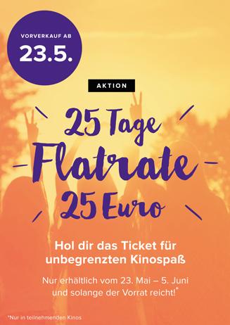 Das 25-Tage-Ticket: die Kinoflat zum Sommerstart