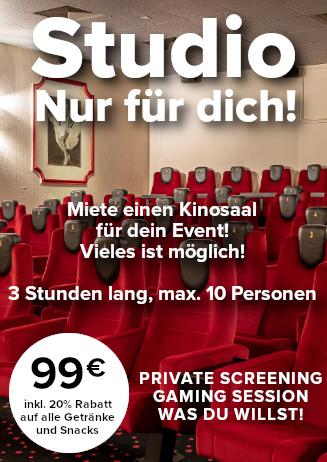 Miete deinen Kinosaal (Studio)