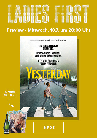 Ladies First am Mitztwoch, 10.07.2019 um 20 Uhr: Yesterday