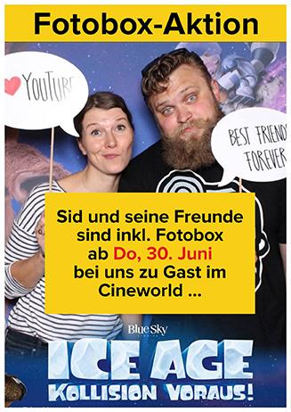 """Fotobox-Aktion zu """"Ice Age - Kollision voraus"""""""