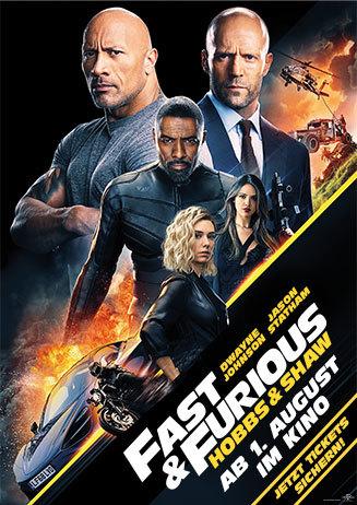 Der Vorverkauf für Fast&Furious:Hobbs und Shaw startet am 15.7.