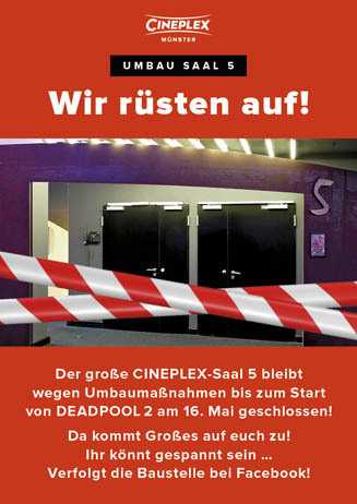 Umbau CINEPLEX Saal 5