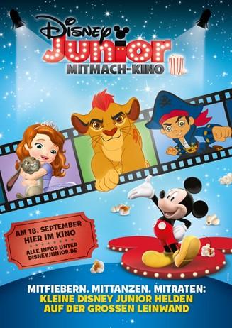 """Vorverkauf beginnt """" Disney Junior Mitmach-Kino am 18.09.16"""""""