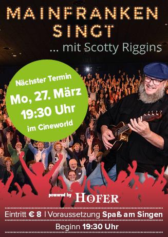 """170327 Special """"Mainfranken singt mit Scotty Riggins"""""""