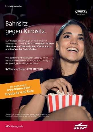 KVV: Bahnsitz gegen Kinositz