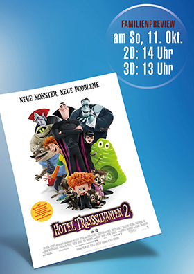 "Familien-Preview ""Hotel Transsilvanien 2"""