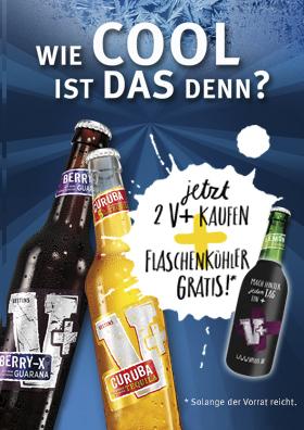 Veltins V+ Flaschenkühler-Aktionsmenü
