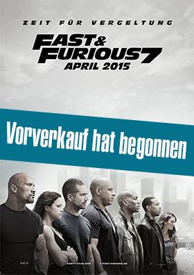 "Vorverkauf "" Fast & Furious 7 """