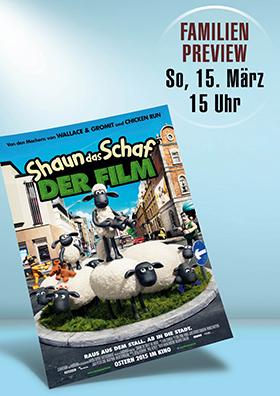 "Familienpreview ""Shaun das Schaf"""