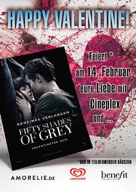 Valentinstag 14.02.2015 um 20:30 Fifty Shades of Grey